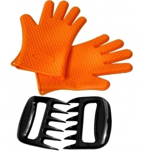 Silicone Cooking Grill Glove & Bear Claws
